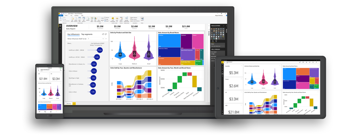 Multi-device Microsoft Power BI