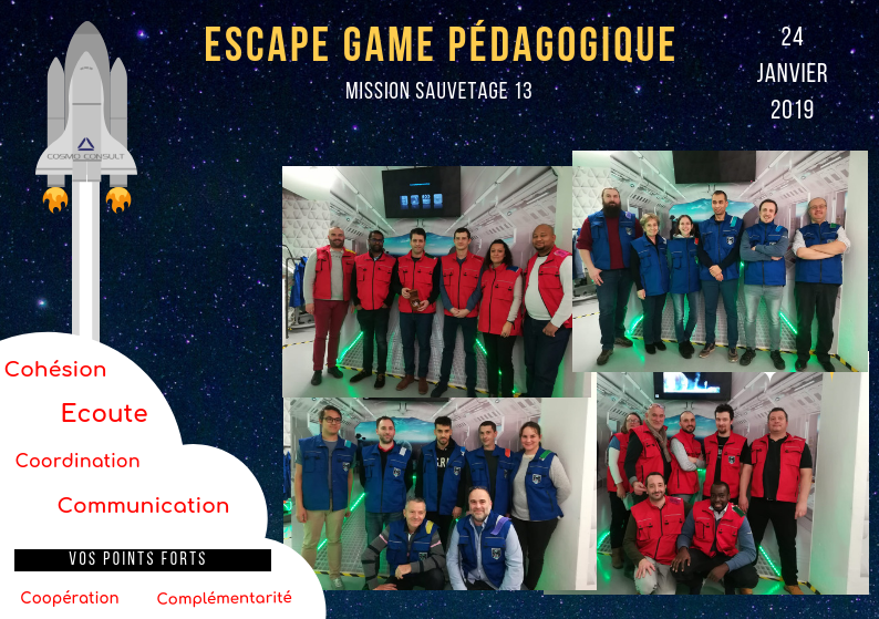 Escape Game équipes COSMO