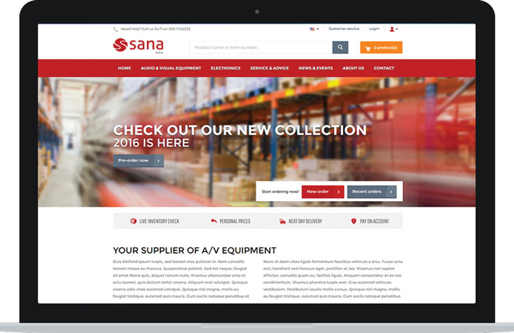 Sana Commerce site marchand