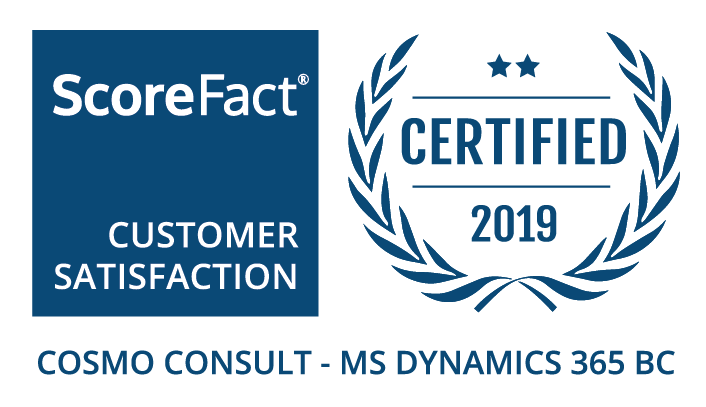 Label Satisfaction client 2019 COSMO CONSULT - MSDYN365BC