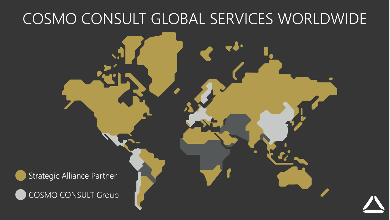 Réseau international des services IT de COSMO CONSULT